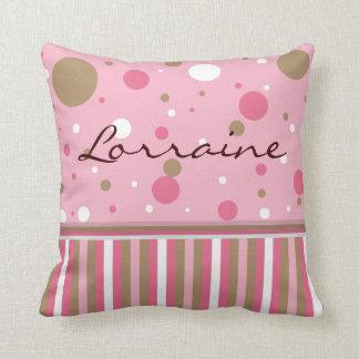 Pink and Brown Pillow Customize