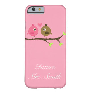 Pink and Brown Polka Dot Love Birds Future Mrs iPhone 6 Case