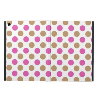 Pink and brown polka dots pattern case for iPad air