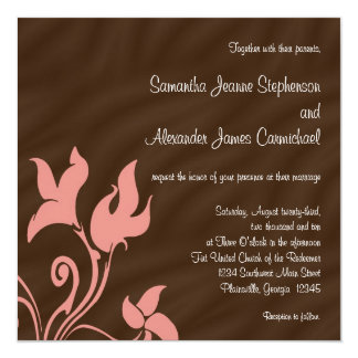 Pink and Brown Swirl Card