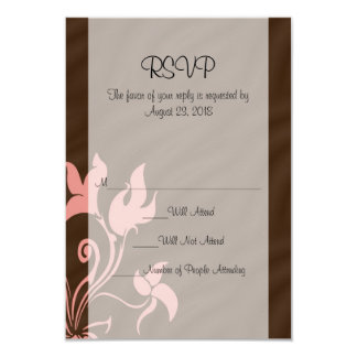 Pink and Brown Swirl Make-Up Artist or Salon Custom Invites