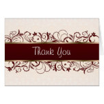 Pink and brown Thank you Greeting Card