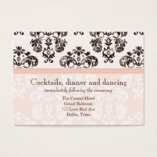 Pink and Brown Vintage Damask Wedding Reception Ca