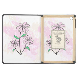 pink and cream floral design iPad air covers
