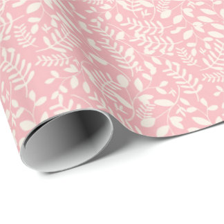 Pink and Cream Floral Gift Wrap