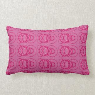 Pink and cream lumbar cushion