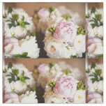 Pink and Cream Peonies Fabric