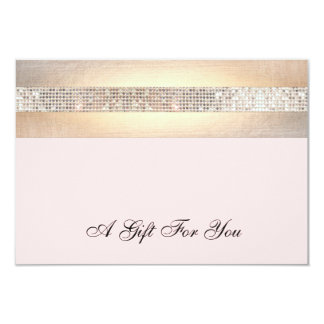 Pink and Gold Beauty Salon Gift Certificate Card