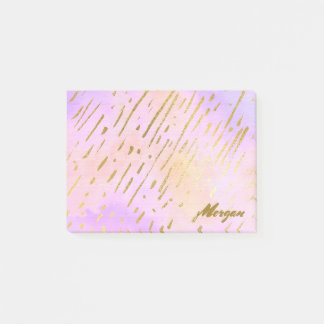 Pink and Gold Classy Post-it Notes