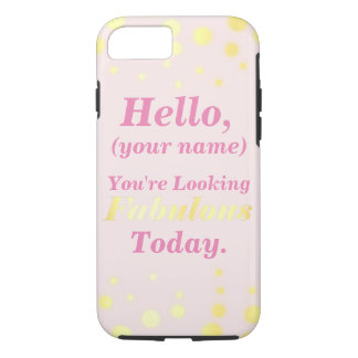 Pink and Gold Fabulous Cell Phone Case
