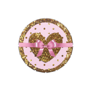 Pink and Gold Heart Candy Favor Party Tins Jelly Belly Tins