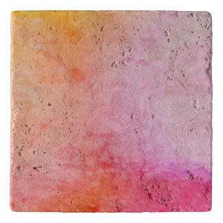 Pink and Gold Marble Custom Travertine Stone Trive Trivet