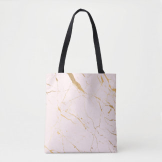 Pink and Gold Marble Tote Bag
