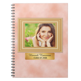Pink and Gold Photo Graduation Notebook
