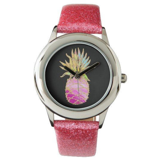 Pink And Gold Pineapple Watch