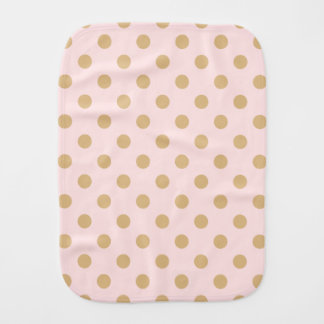 Pink and Gold Polka Dot Pattern Burp Cloth