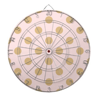 Pink and Gold Polka Dot Pattern Dartboard