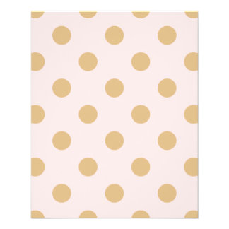 Pink and Gold Polka Dot Pattern Flyer