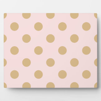 Pink and Gold Polka Dot Pattern Plaque