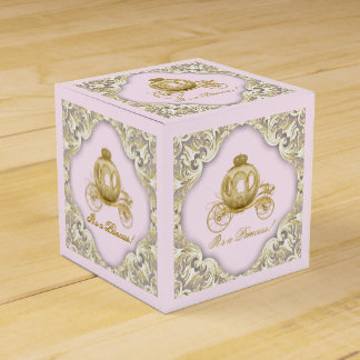 Pink and Gold Princess Favour Box