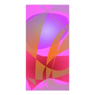 Pink and Gray Custom Photo Card