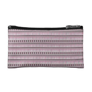 Pink and Gray Ethnic/Aztec Geometric Cosmetic Bag