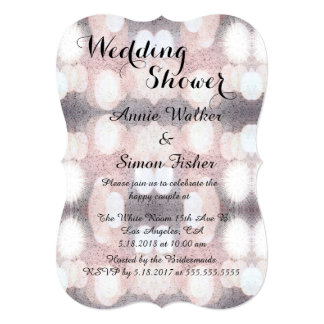 Pink And Gray Glitter Looking Pattern Card