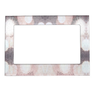 Pink And Gray Glitter Looking Pattern Magnetic Frame
