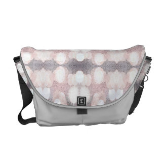 Pink And Gray Glitter Looking Pattern Messenger Bags