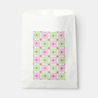Pink and green abstract circles pattern favour bag