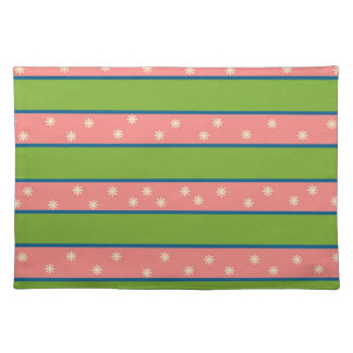 Pink and Green American MoJo Placemats Place Mats