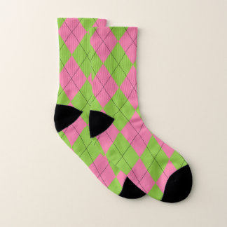 Pink and Green Argyle Pattern 1