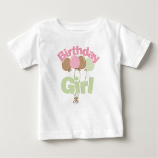 Pink And Green Birthday Girl Baby T-Shirt