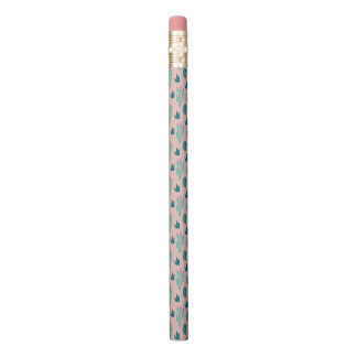 Pink and Green Cute Cactus Pattern Pencil