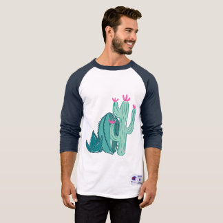 Pink and Green Cute Cactus T-Shirt
