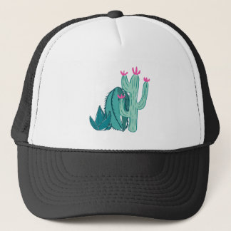 Pink and Green Cute Cactus Trucker Hat