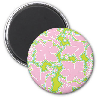Pink and Green Design Magnet