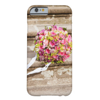 Pink and Green Floral Wedding Bouquet Barely There iPhone 6 Case