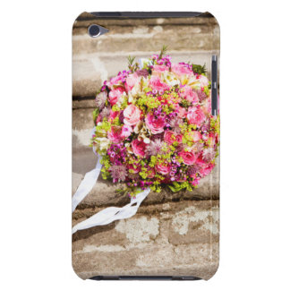 Pink and Green Floral Wedding Bouquet Barely There iPod Case