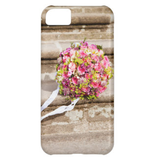 Pink and Green Floral Wedding Bouquet iPhone 5C Case