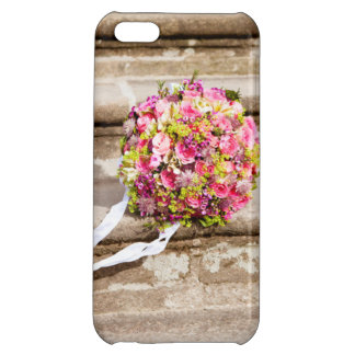 Pink and Green Floral Wedding Bouquet iPhone 5C Covers