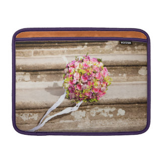Pink and Green Floral Wedding Bouquet Sleeve For MacBook Air