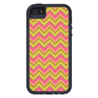 Pink and Green Garden Rose Chevron Case For iPhone 5