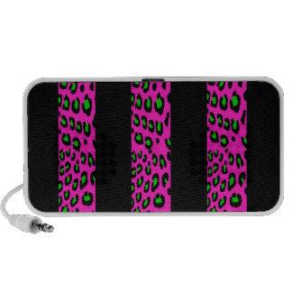 Pink and Green Leopard Stripes Speaker