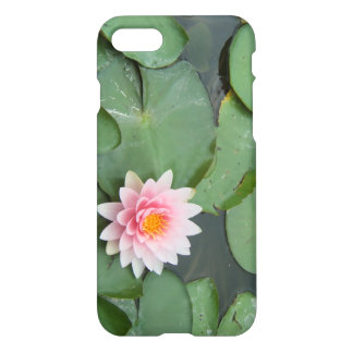 Pink and Green Lily Pad Pretty Floral Womens iPhone 7 Case
