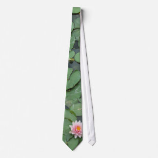 Pink and Green Lily Pad Pretty Photograph Tie