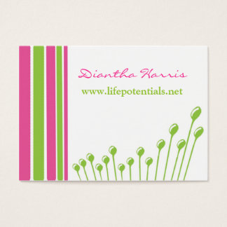 Pink and Green Modern Business Card