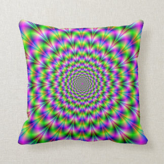 Pink and Green Neon Flower American MoJo Pillows Throw Cushions