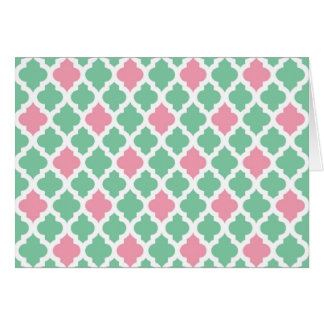 Pink and Green Note Card