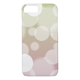 Pink and Green Ombre Bokeh iPhone 7 Case